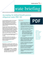 Accounting for DB Pension Obligations Under FRS102