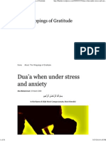 Dua'a When Under Stress and Anxiety _ the Wrappings of Gratitude