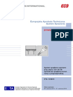 DSI DYWIDAG ETA 13 0815 System Sprezania Splotami Przy Uzyciu Od 3 Do 55 Pl
