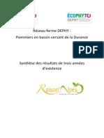Synthèse des résultats des 3 ans d'existence 2011 - 2014