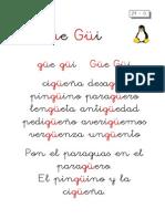 Metodo de Lectoescritura Letra Güe Güi