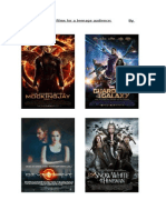 Research and analysis of action movie posters by Megan Jinks 3
