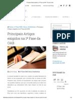 Principais Artigos exigidos