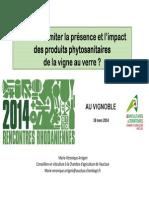 Comment limiter la présence et l'impact des produits phytosanitaires de la vigne au verre