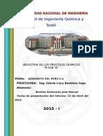 Visita Tecnica a Ajinomoto Del Peru s.a Informe