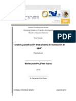 Análisis y Planificación de Un Sistema de Reutilización de Agua