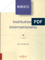 Institutions Internationales Jean Charpentier Tape