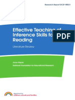 Effective Teaching Of Inference Skills For Reading