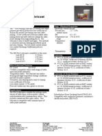 Cable Pulling Lubricant- Data Sheet (en Ingles)