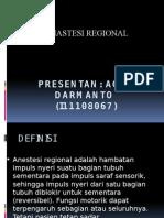 Anastesi Regional Agus Darmanto