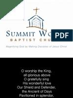 Morning Gathering Lyrics - June 7, 2015