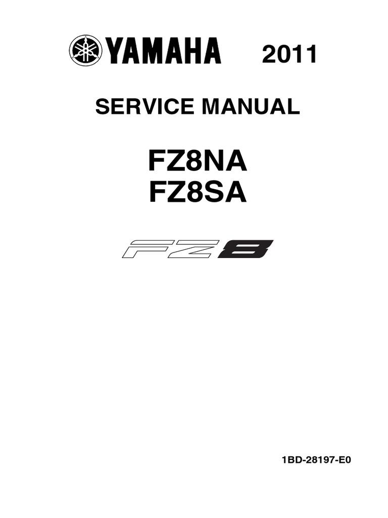 Fz8 - Service Manual | Anti Lock Braking System | Fuel Injection