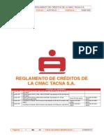 Reglamento de Créditos de La Cmac Tacna s