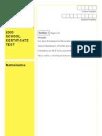 mathematics sctest 05