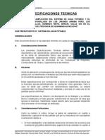 Especificaciones Tecnicas Agua Potable- MURO
