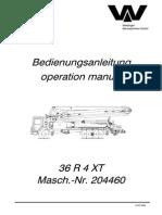 Operation Manual General-36R4XT