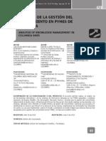 Analisis De La Gestion Del Conocimiento En PYMES