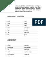 Kata Penghubung Atau Conjunction