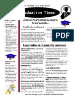 Class of 2015 Senior Newsletter