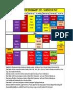 Tournament Schedule 2015