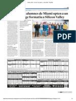 Noticia Alumnes Miami Opten a Viatjar a Silicon Valley