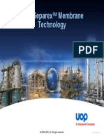 UOP Separex Membrane Technologytech Presentation