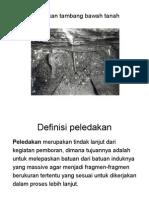 Peledakan Pada Tambang Bawah Tanah