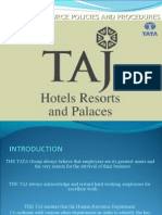 The Taj human resource and procedures