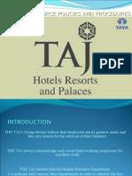 The Taj human resource and procedures