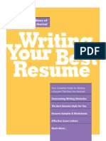 Writing Your Best Resume