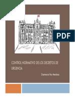 CONTROL NORMATIVO DE LOS DECRETOS DE URGENCIA, GianmarcoPaz