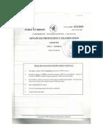 Chemistry Unit 2 Paper 2 2009
