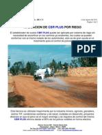 Aplicacion de Cbr Plus Por Riego Para Mitigar Polvos 12 Ago 2011