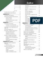 manual optoma x401 proyector castellano