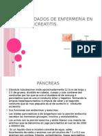 PANCREATIRIS - Cuidados de Enfermeria