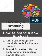 Devising a Branding Strategy