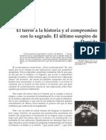 El Terror a La Historia y El Compromiso Con Lo Sagrado. El Último Suspiro de Derrida