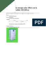 Inversor de La Energía Solar 30kw Con La Fuente de La Salida 120