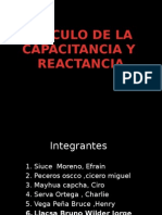 calculo de capacitancia y reactancia