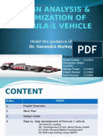 Design Analysis & Optimization of Formula-1 Vehicle_8th Sem_mse