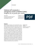 Políticas de la memoria y emergencia social en América Latina. Imágenes de un pasado que cambia. Ana Copes y Guillermo Canteros