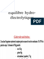 Equilibre Hydro Electrolytique
