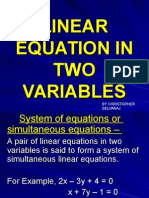 Linear Equation in Tow Variable