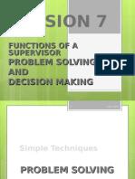 Lesson 7 - Problem Solving & Decision Making