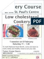 Low Cholesterol Cookery Course