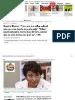 DESCRIPCCION DE LA DERECHA ABUSIVA SEGUN BEATRIZ MERINO EX DEFENSORA DEL PUEBLO