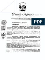 DS. 011-2014-JUS - Reglamento de La Ley 30201, Ley que crea el Registro de Deudores Judiciales Morosos