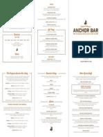 Anchor Bar Las Vegas Menu