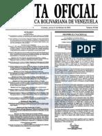 Sumario Gaceta Oficial 39.366