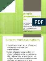 Errores cromosomaticos